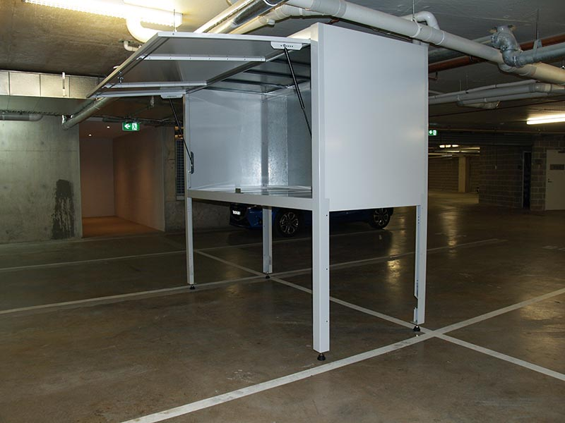 Space commander the apartment storage experts space for Over car garage storage